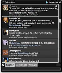 TwitterFox in Aktion