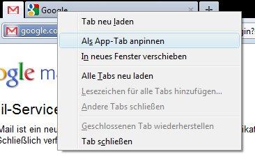 App-Tab in Firefox 4