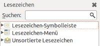 Firefox Lesezeichen-Verwaltung