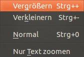 Zoom in Firefox einstellen