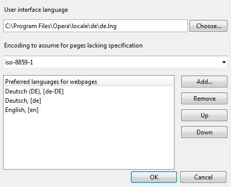 User Interface Language