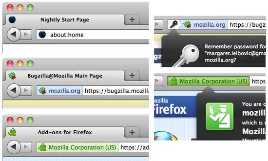 Bloc de la nouvelle identité de Firefox 6