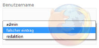 Formulardaten in Firefox