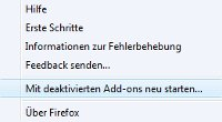 Der SafeMode von Firefox