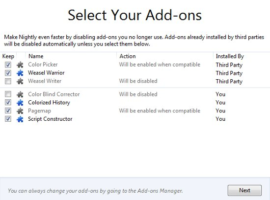 Select Your Add-ons