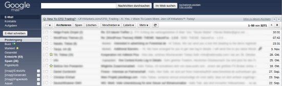 Altes Design von Gmail