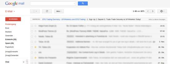 Neues Design von Gmail