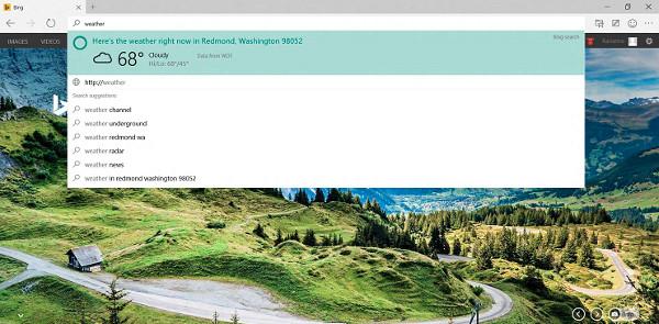 Screenshot von Microsoft Spartan