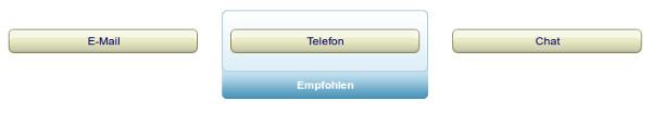Kontaktmöglichkeiten: E-Mail, Telefon und Chat