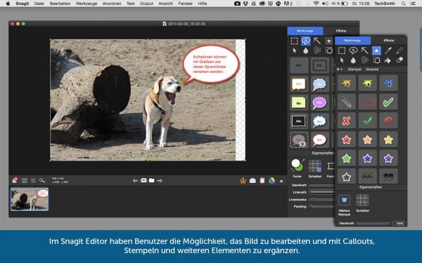 Snagit: Editor zur Bildbearbeitung