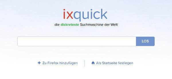 Diskrete Suchmaschine: ixquick.com