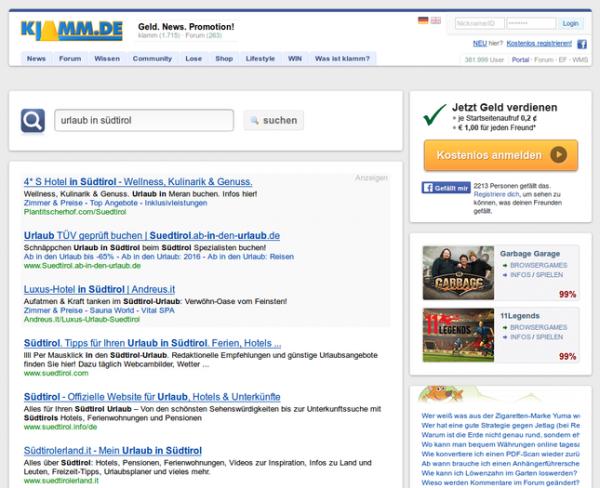 klamm.de Suchergebnisse