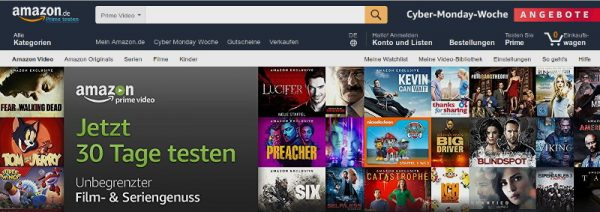 Amazon Prime Screenshot