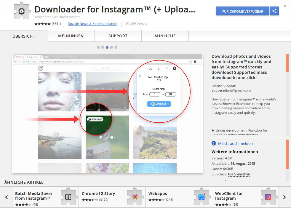 Instagram Image Downloader für Chrome | Foxload